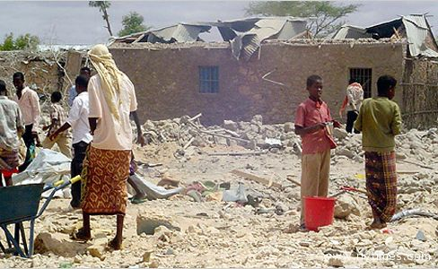 Un'immagine della tragedia somala