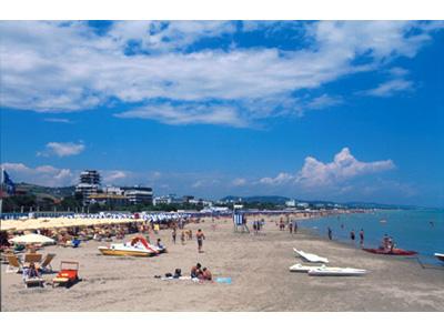 Un tratto di spiaggia di Giulianova