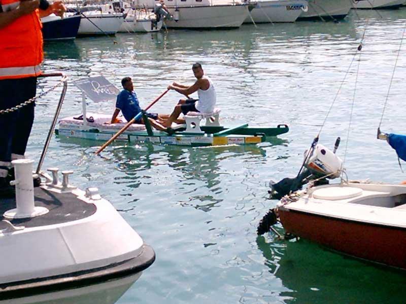 L'arrivo in porto di Maurizio Foschi e Francesco Di Giandomenico