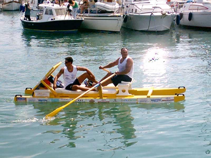 L'arrivo in porto di Fioravante Palestini e Gianluca Crescenzi