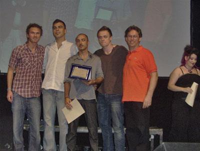 Premiazione del trio Niv al 13° festival dell'Adriatico Voci Nuove 2009
