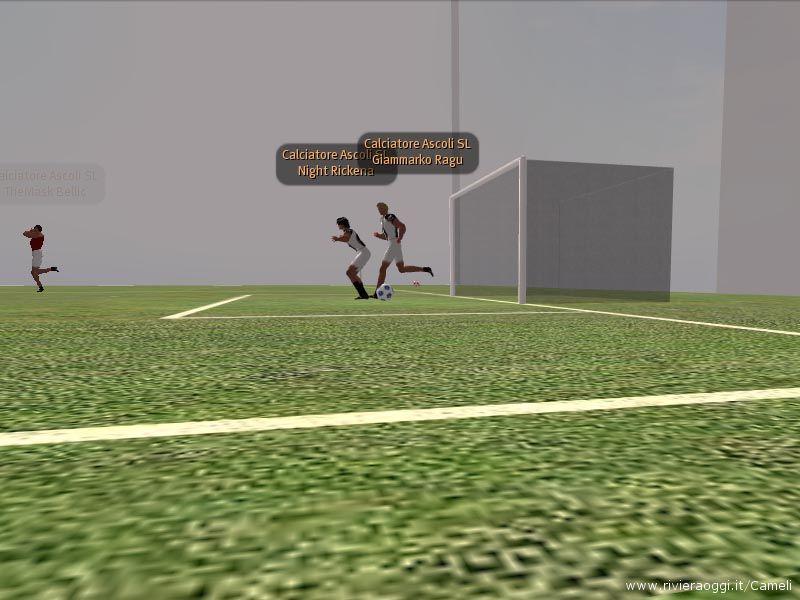 Una partita tre contro tre durante l'allenamento