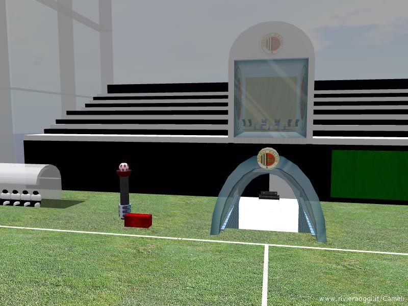 Le tribune dell'Ascoli Calcio SL TIM