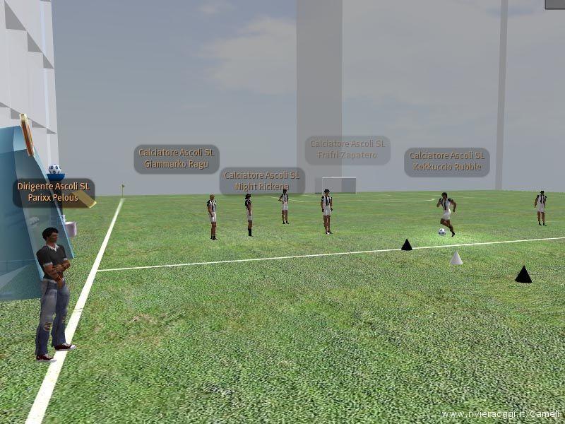 I ragazzi dell'Ascoli Calcio SL TIM durante l'allenamento