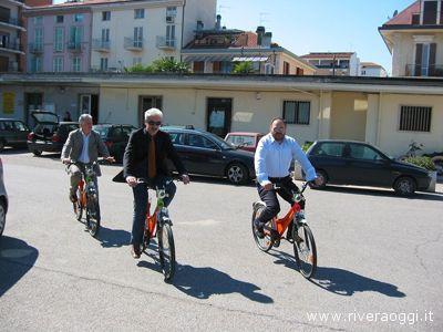 L'assessore Ubaldo Maroni, il presidente Massimo Rossi e il sindaco Giovanni Gaspari primi sponsor del progetto