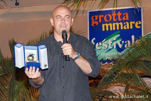 Maurizio Crozza a Grottammare, quando fu premiato a Cabaret Amore Mio