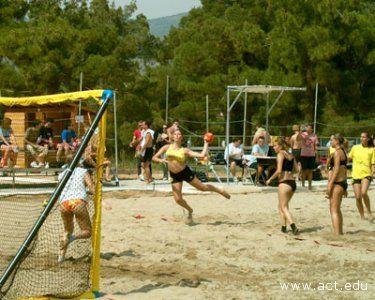 Una gara di Beach Handball