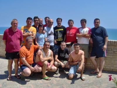 Gli operatori museali di Villanovaforru insieme ad Andrea Mora della Cooperativa Idrea
