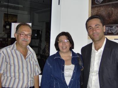 Il direttore del museo Tiziano Cossignani, l'assessore ai servizi sociali Matilde Cameli e il presidente di Art For Job Sandro Angelini, presenti all'inaugurazione