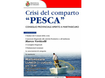 La locandina del Consiglio provinciale aperto che si terrà lunedì prossimo a Martinsicuro