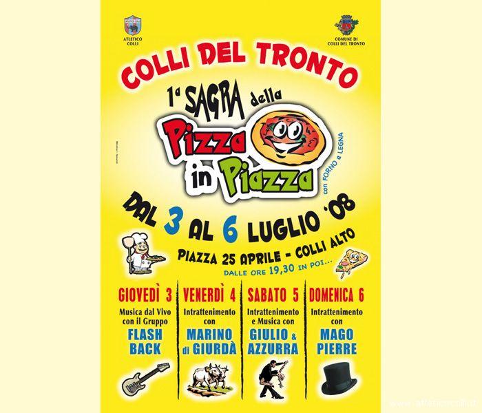 Il programma della prima agra della pizza in piazza, a Colli del Tronto