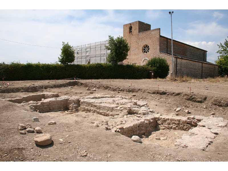 I resti della chiesetta Alto medievale ritrovata nei pressi di Santa Maria a Vico