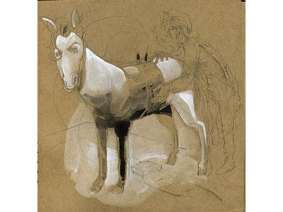 Una delle opere in mostra ad Elekta, B. Wells Stevens