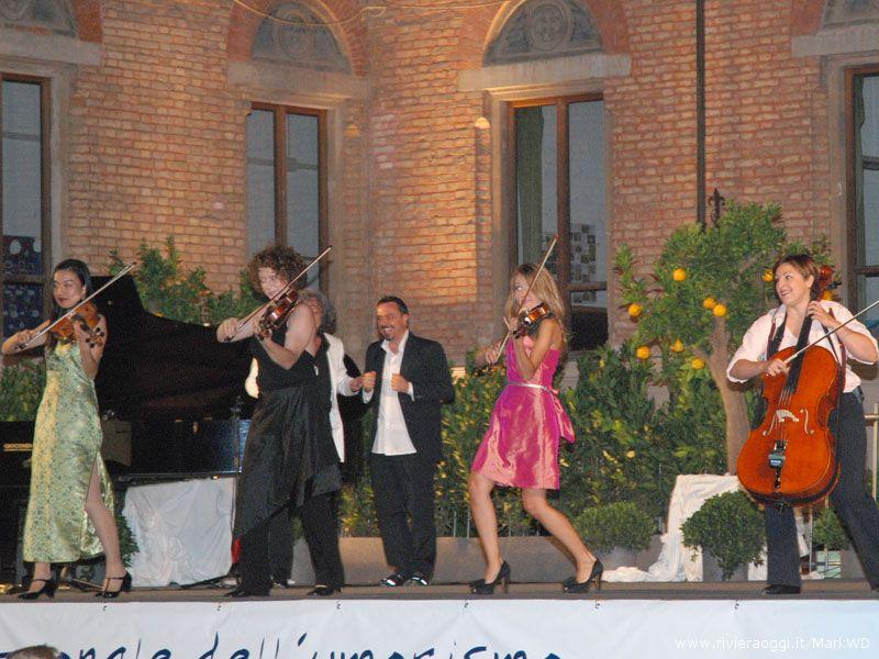 Il Quartetto Euphoria e gabriele Cirilli