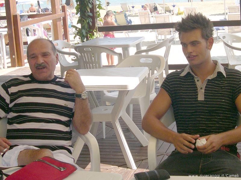 L'agente Capriotti con Alessandro Cameli