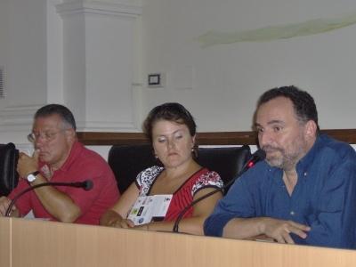 Da sinistra: Carmine Chiodi, Paola Di Girolami e Dante Milozzi