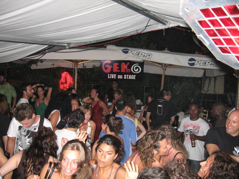 Ferragosto 2008 al Geko, una lunga notte