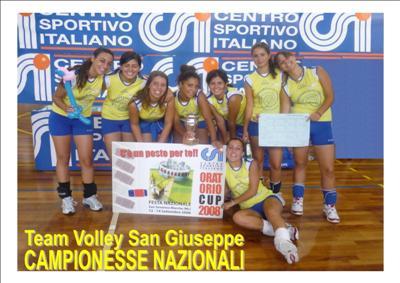 Le ragazze del Team Volley San Giuseppe