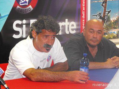 Piccioni e Natali durante la conferenza stampa