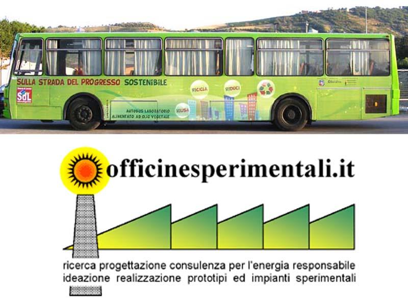 Il veicolo-laboratorio a doppia alimentazione, prototipo di Officine sperimentali