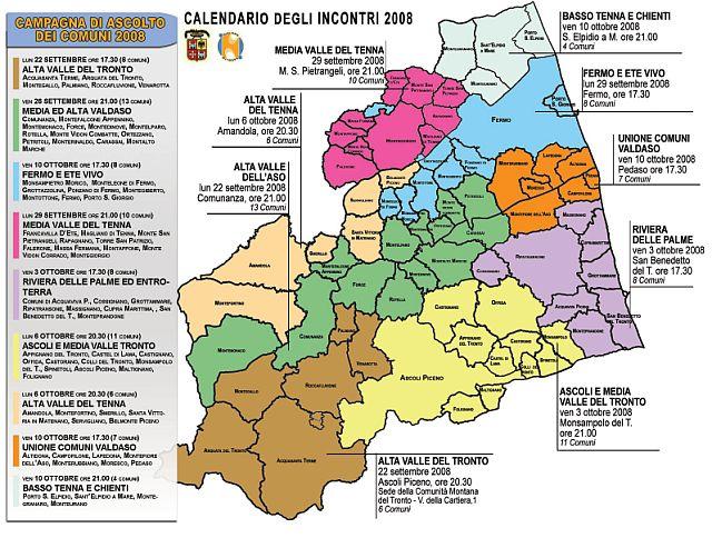 La mappa degli incontri