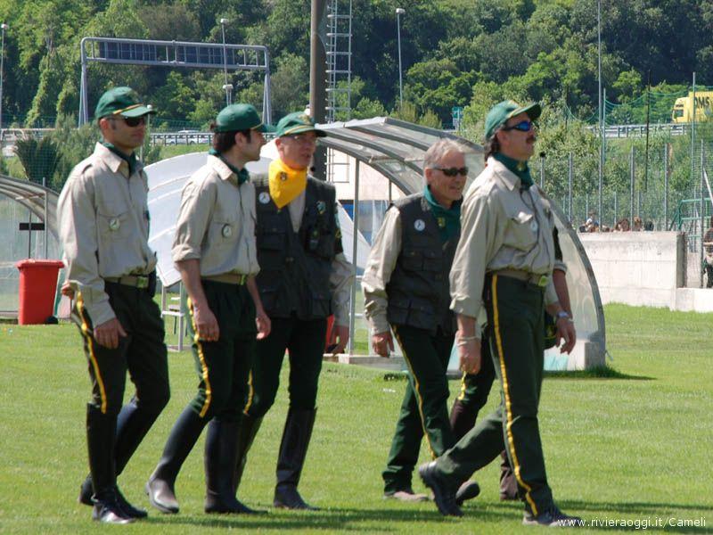 Un gruppo di Giacche verdi durante la Festa dello sport dello scorso 31 maggio