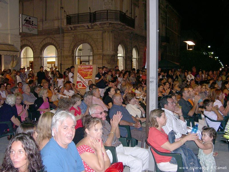 La Notte delle Energie a Grottammare nel 2008: la prima edizione di una festa notturna di popolo che quest'anno prende il nome di