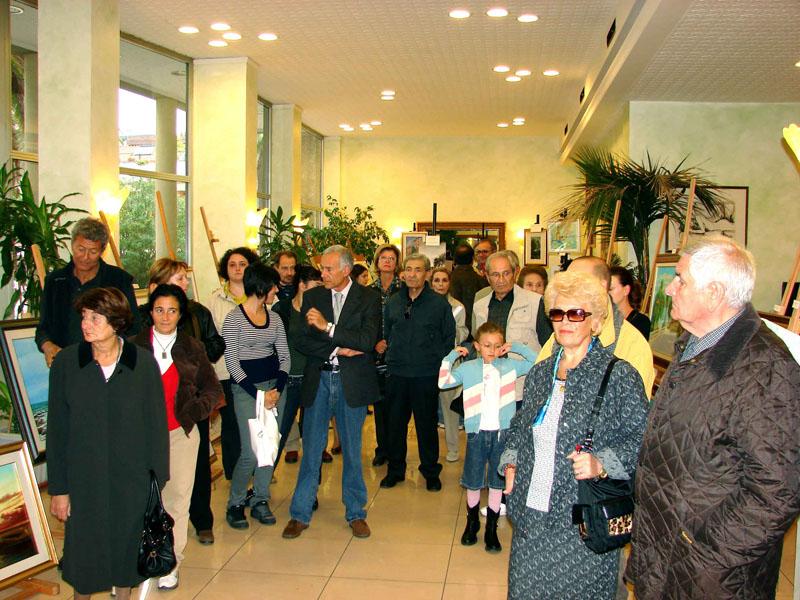 Inaugurazione della mostra del Concorso grafico-pittorico per dilettanti al Calabresi
