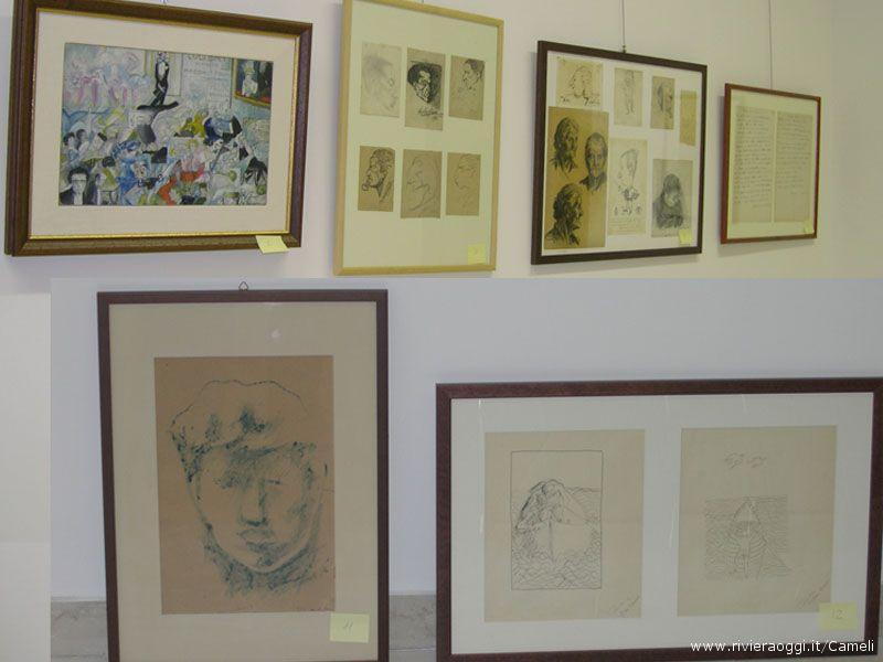 Alcune delle opere in esposizione per la mostra