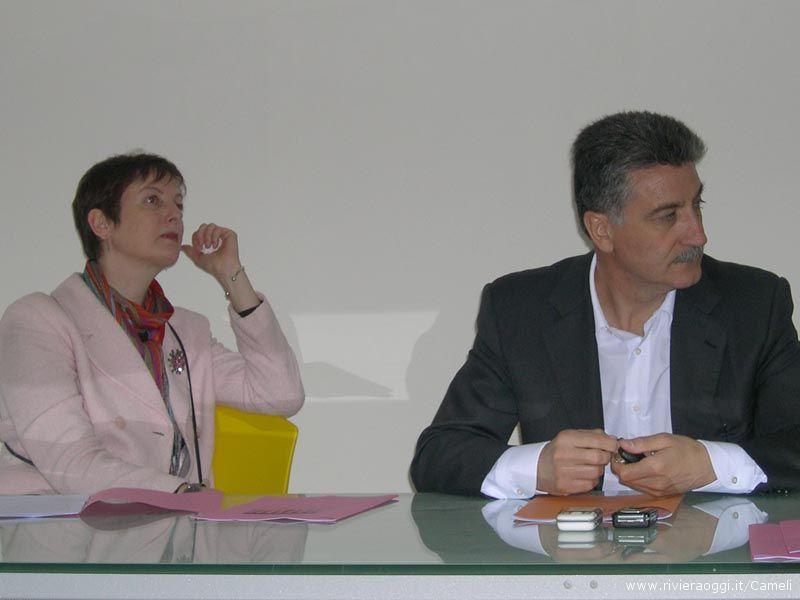 L'architetto Liliana Ruffini e il sindaco Luigi Merli