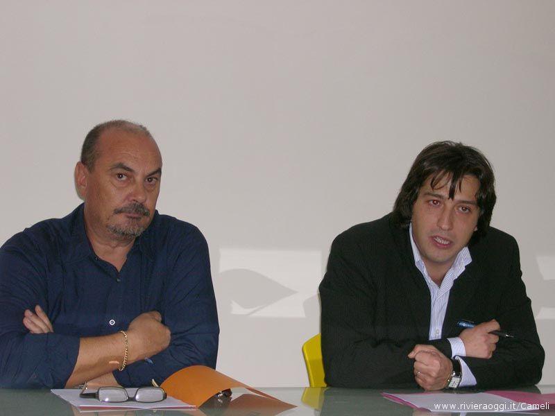 L'assessori ai lavori pubblici Fausto Tedeschi e l'assessore alla cultura e vicesindaco Enrico Piergallini
