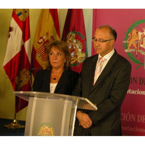 Patrizia Casagrande, presidente della Provincia di Ancona, ricevuta alla Diputaciòn de Valladolid dal presidente Ramiro Ruiz Medrano