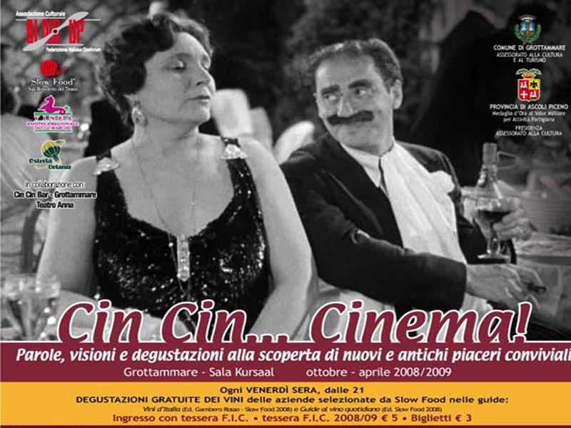 Cin cin, cinema e piaceri conviviali