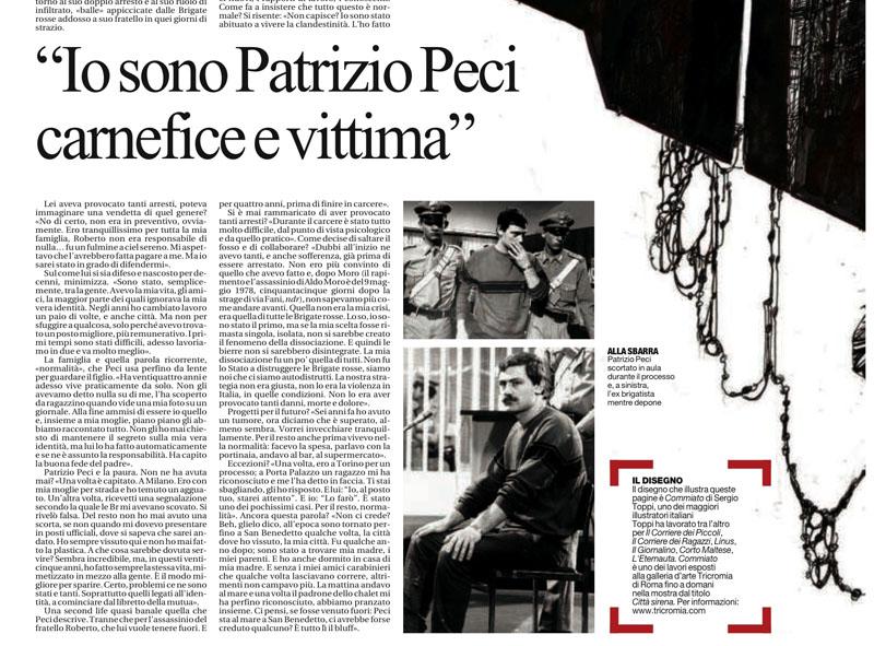 Un estratto dell'intervista a Patrizio Peci comparsa su