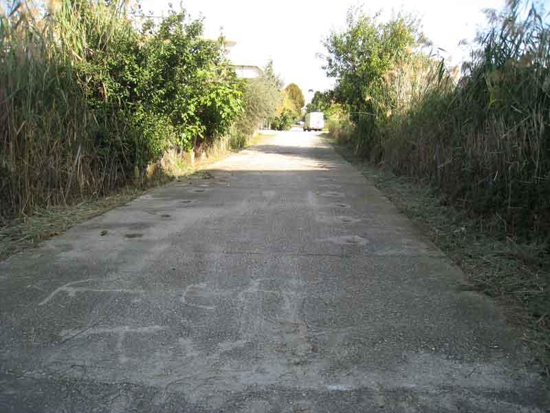Un tratto del cavatone da via Marconi a Via Roma