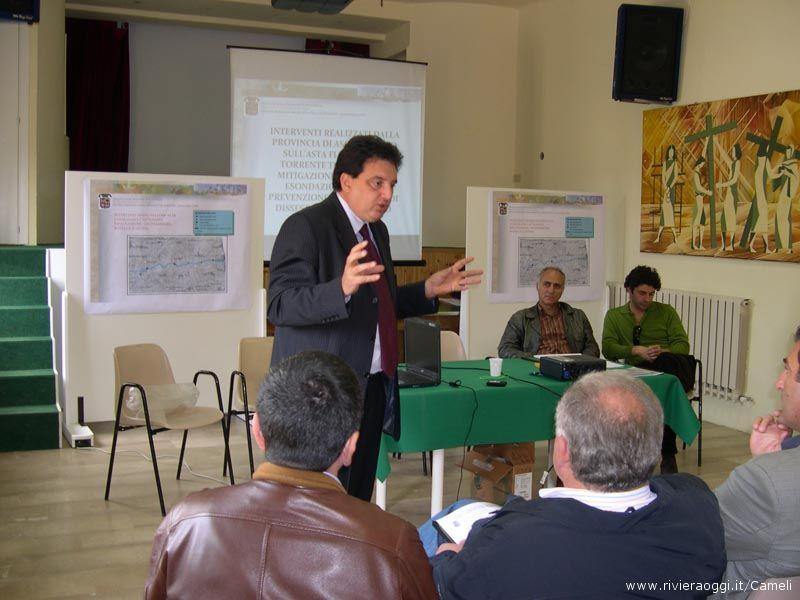 L'assessore provinciale Baiocco spiega il rischio idrologico
