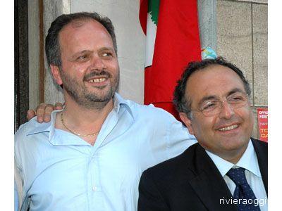 Il sindaco Giovanni Gaspari e l'onorevole Luciano Agostini
