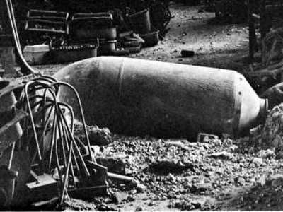 La bomba rivenuta a suo tempo in Viale dello Sport