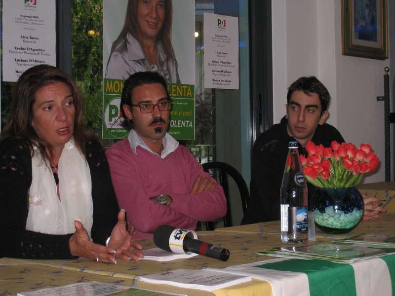 Monica Bovolenta, Palmiro Carlini e Piergiorgio Natali