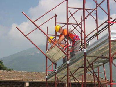 Cantiere in allestimento