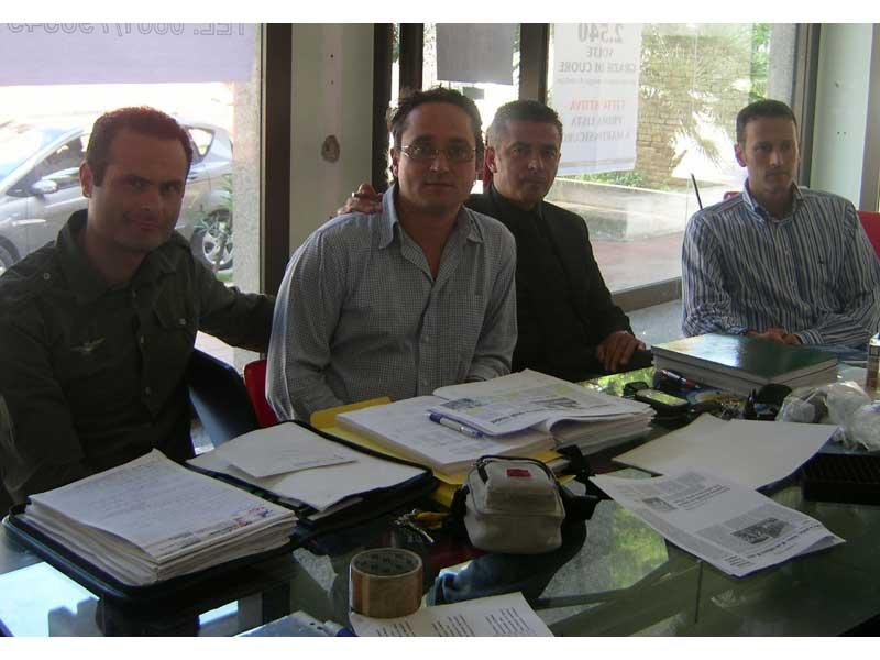 Il gruppo consiliare di città Attiva: Alduino Tommolini, Andrea D'Ambrosio, Paolo Camaioni, Stefano Ciapanna