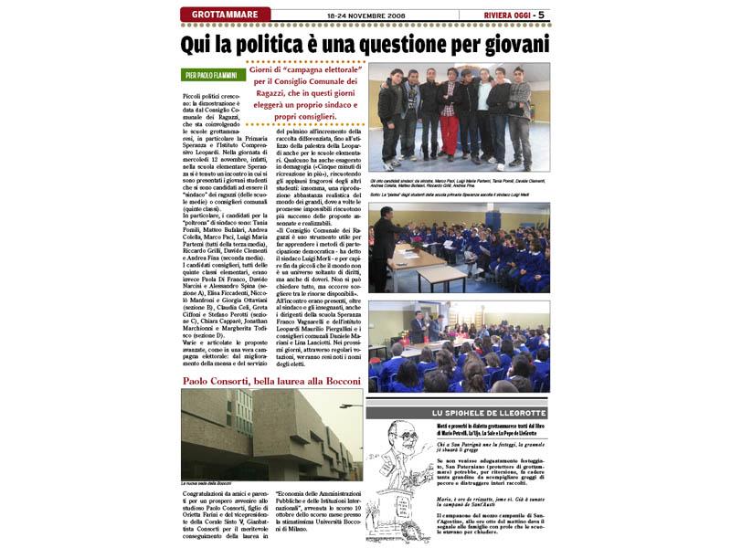 Riviera Oggi numero 752: focus sulla politica