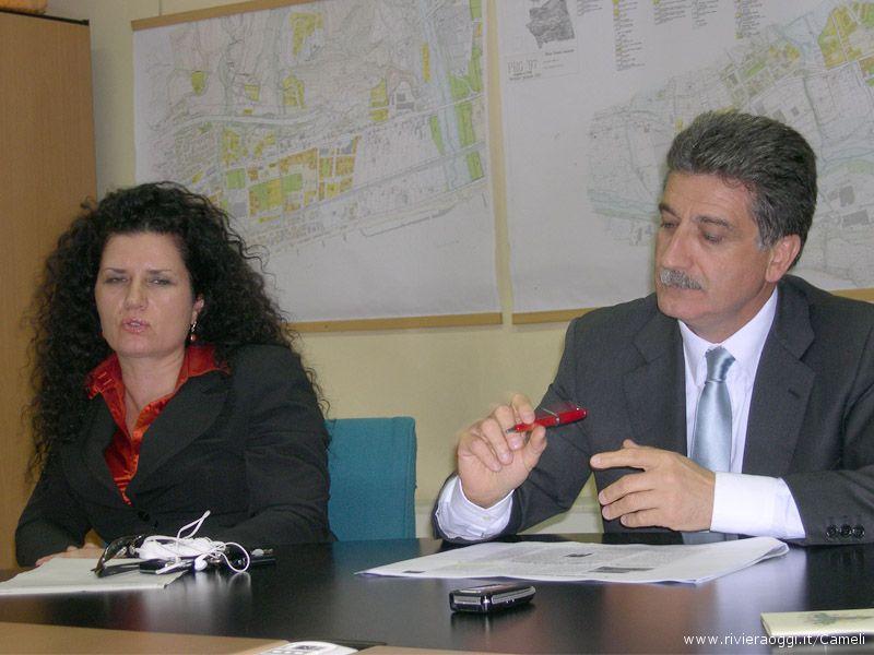 L'avvocato Cristina Perozzi e il Sindaco Luigi Merli