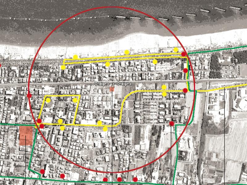 Nella cartina è segnalato l'ordigno bellico e, grossomodo, la zona che dovrà essere evacuata quando la bomba sarà fatta brillare