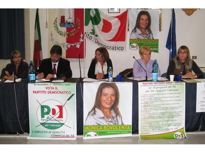 Mariagrazia facciabene (coordinatrice Pd Martinsicuro), Ernino D'Agostino, Monica Bovolenta, Livia Turco e Stefania Misticoni