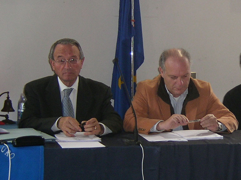 Abramo Di Salvatore e l'ex vicesindaco Luigino Fedeli