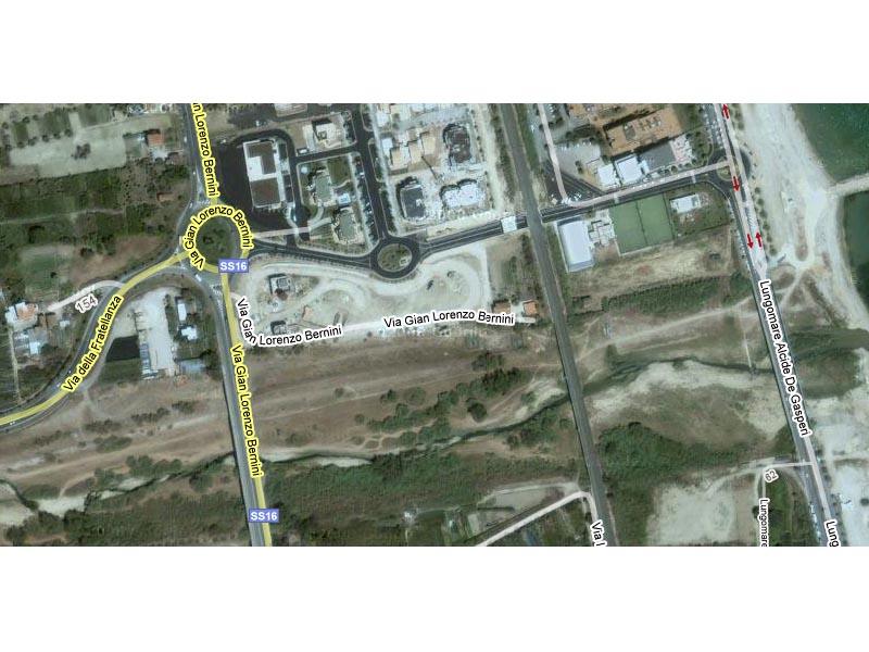 L'immagine da satellite di Google maps nella zona Tesino