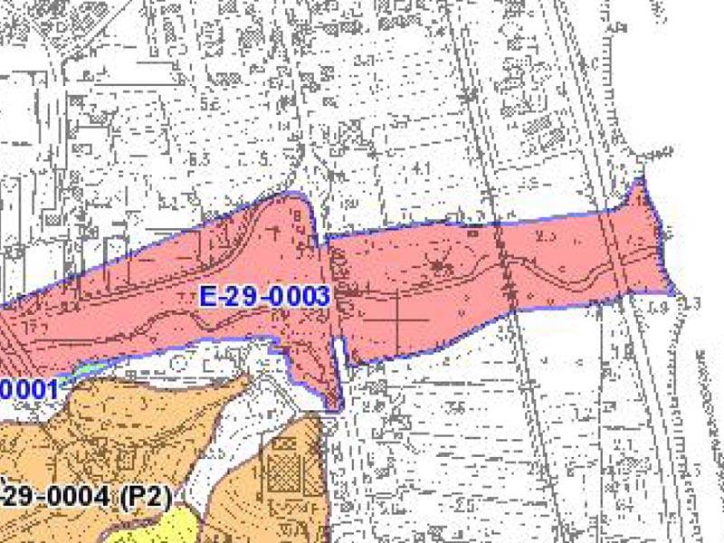 La cartografia PAI dell'Autorità di bacinio nella zona Tesino