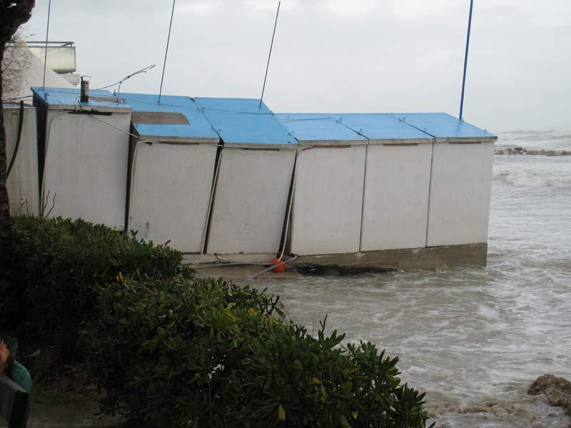 Strutture balneari nella zona nord di Martinsicuro