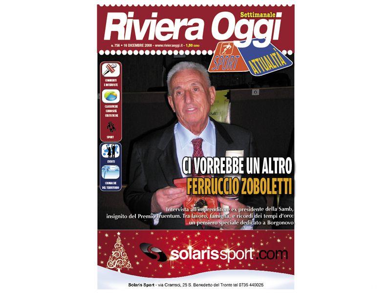 La copertina di Riviera Oggi con Zoboletti